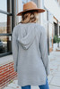 Jolie Hooded Grey Ribbed Cardigan