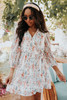Even Sweeter Faux Wrap Floral Dress