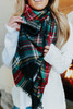 Hallie Plaid Oblong Scarf
