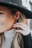 Roaring Twenties Black Druzy Earrings