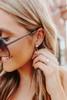 Roaring Twenties Gold Druzy Earrings