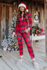 Christmas Morning Red Plaid Pajama Set