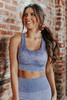 Zenon Mineral Wash Purple Sports Bra