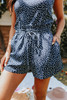 Seabrooke Navy Dotted Paperbag Shorts