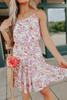 Rosie Tie Waist Floral Flounce Dress