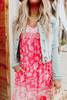 Hawaiian Getaway Floral Babydoll Dress