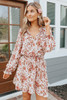 Farmhouse Market Floral Chiffon Dress