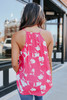 Surplice Hot Pink Floral Tank