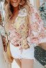 Free People Lucky Penny Floral Wrap Top