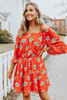 Hawaiian Islands Off the Shoulder Floral Dress