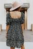 Daphne Black Floral Sweetheart Dress