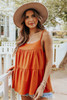 Square Neck Tiered Amber Tank