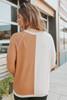 Macchiato Colorblock Split Brushed Pullover