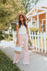 Dancing Queen High Waisted Pink Flare Jeans