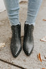 Yasmine Studded Black Booties