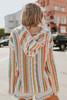 V-Neck Multi Stripe Baja Hoodie