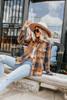 Sundance Orange/Navy Plaid Shacket