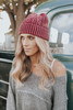 Free People Stormi Washed Red Cable Beanie