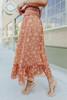 Smocked Terracotta Floral Maxi Skirt