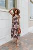 Desert Valley Patchwork Print Midi Dress