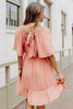 Puff Sleeve Contrast Stitch Smocked Sienna Dress
