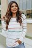 Inside Scoop Multi Stripe Raglan Sweater