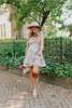 Tie Strap Floral Colorblock Ruffle Dress
