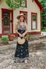 Nashville Market V-Neck Black Floral Maxi