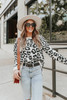 Making Moves Cozy Oatmeal Leopard Sweater