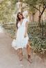 Short Sleeve Button Down White Midi Dress