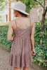 V-Neck Ditsy Mauve Floral Babydoll Dress