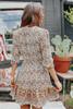 Garden Dreams Surplice Cream Floral Dress