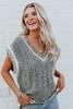 V-Neck Heather Black Sweater Vest