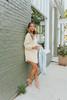 Henley Contrast Crinkle Vanilla Tunic Dress