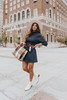 Turtleneck Heather Navy Sweater Dress