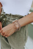 Wrapped Up Mixed Gold Linked Bracelet