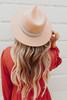 Emilia Printed Ribbon Tan Hat
