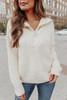 Cable Detail Cream Half Zip Pullover