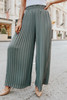 Brighton Pleated Olive Wide Leg Pants