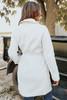 Manhattan Draped Tie Waist Cream Coat