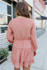 Guest List V-Neck Dusty Rose Tiered Dress
