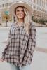 Sonoma County Grey Plaid Hooded Shirt