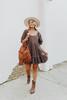 Free People Easy to Love Espresso Mini Dress