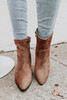 Faux Suede Taupe Ankle Booties