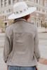 Roll Tab Peach Skin Stone Jacket