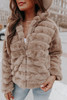 Cher Faux Fur Quilted Taupe Jacket