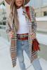 Hudson Tie Waist Camel Plaid Jacket