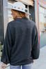 Mock Neck Charcoal Brushed Pullover