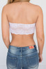 Lace Back Bandeau - White