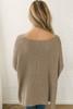 Cuff Sleeve Sweater - Mocha